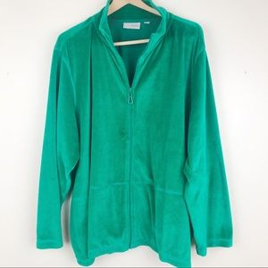 QVC Sport Savvy Essentials Green Track Suit Jacket
